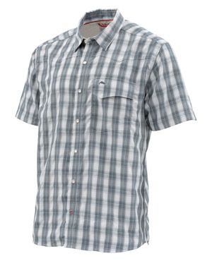 <font color=red>On Sale - Clearance</font><br>Simms Big Sky SS Shirt - Storm Plaid