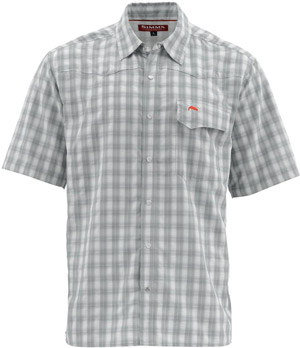 <font color=red>On Sale - Clearance</font><br>Simms Big Sky SS Shirt - Pewter Plaid