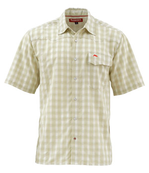 <font color=red>On Sale - Clearance</font><br>Simms Big Sky SS Shirt - Sage Plaid