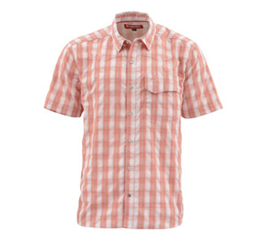 <font color=red>On Sale - Clearance</font><br>Simms Big Sky SS Shirt - Conch Shell Plaid