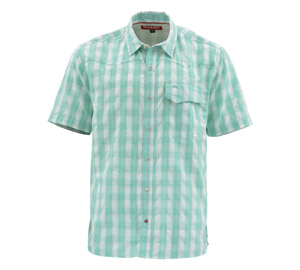 <font color=red>On Sale - Clearance</font><br>Simms Big Sky SS Shirt - Bahamas Plaid