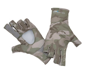 <font color=red>On Sale - Clearance</font><br>Simms Bugstopper SunGlove - Pico Camo Mineral