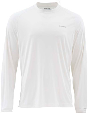 a59ff4a4 Fly Fishing Flies - <font color=red>On Sale - Clearance</font><br>Simms  Solarflex LS Crewneck Solid - White