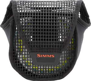 <font color=red>On Sale - Clearance</font><br>Simms Bounty Hunter Mesh Reel Pouch Large - Black