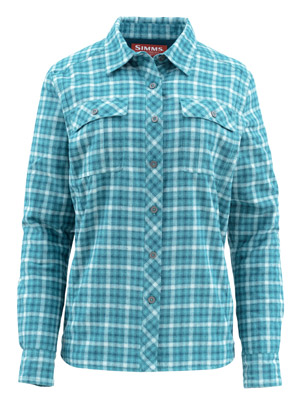 <font color=red>On Sale - Clearance</font><br>Simms Women's Guide Insulated Shirt - Mermaid Plaid