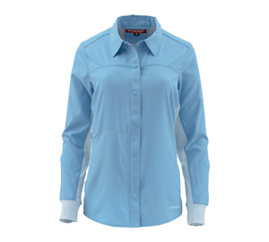 <font color=red>On Sale - Clearance</font><br>Simms Women's BiComp LS Shirt - Faded Denim