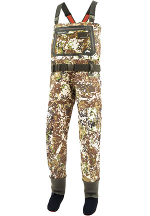 <font color=red>On Sale - Clearance</font><br>Simms G3 Guide Stockingfoot Wader - River Camo