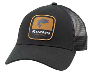 <font color=red>On Sale - Clearance</font><br>Simms Bass Patch Trucker - Black