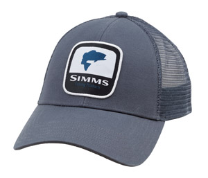 <font color=red>On Sale - Clearance</font><br>Simms Bass Patch Trucker - Anvil