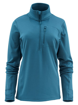 <font color=red>On Sale - Clearance</font><br>Simms Women's Fleece Midlayer 1/2 Zip - Teal