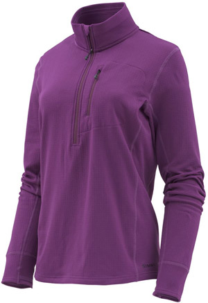 Simms Women's Fleece Midlayer 1/2 Zip - Plum