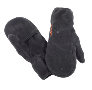 <font color=red>On Sale - Clearance</font><br>Simms Headwaters Fleece Foldover Mitt - Black