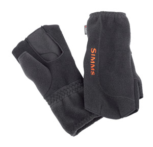 <font color=red>On Sale - Clearance</font><br>Simms Headwaters Fleece No Finger Glove - Black