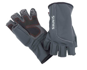<font color=red>On Sale - Clearance</font><br>Simms Guide Windbloc Half Finger Mitt - Raven