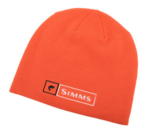 <font color=red>On Sale - Clearance</font><br>Simms Bass Logo Lockup Beanie - Hunter Orange