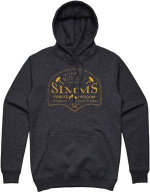 <font color=red>On Sale - Clearance</font><br>Simms Big Sky Hoodie  - Charcoal Heather