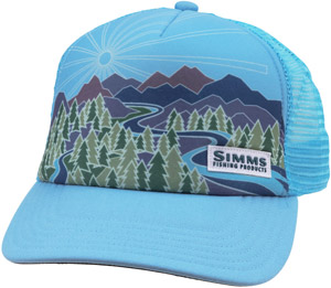 <font color=red>On Sale - Clearance</font><br>Simms Women's Adventure Trucker - Sky Blue