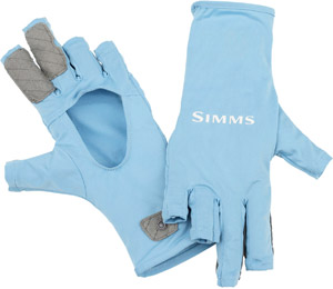<font color=red>On Sale - Clearance</font><br>Simms BugStopper SunGlove - Faded Denim