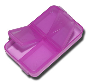 4 Compartment Nymph Fly Box - Purple