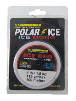 Ice Red Premium Copolymer Fishing Line - 110 yard Spool