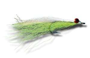 Clouser Deep Minnow - Chartreuse & White