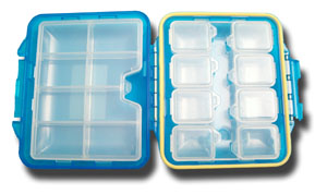 Meiho Waterproof Component System Fly Box - 9 Compartment - Sky Blue