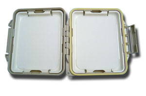 Meiho Waterproof Component System Fly Box - Flat Foam - Tan