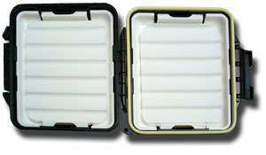 Meiho Waterproof Component System Fly Box - Ripple Foam - Black