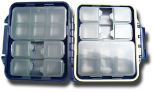 Meiho Waterproof Component System Fly Box - 14 Compartment - Navy Blue