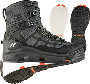 <font color=red>On Sale - Clearance</font><br>Korkers Wraptr Wading Boot - Kling-On + Studded Kling-On Soles