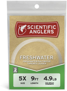 <font color=red>On Sale - Clearance</font><br>Scientific Anglers Nylon Freshwater Leaders - 2 Pack