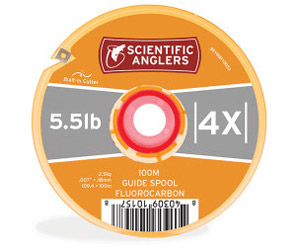 <font color=red>On Sale - Clearance</font><br>Scientific Anglers Fluorocarbon Tippet – 100 Meter Guide Spool