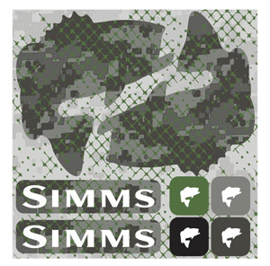 <font color=red>On Sale - Clearance</font><br>Simms Pimp Your Boat Sticker - Bass