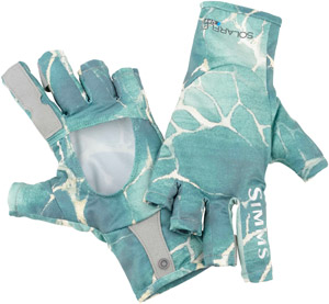 <font color=red>On Sale - Clearance</font><br>Simms Solarflex Sunglove - River Rapids Island Green