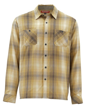 <font color=red>On Sale - Clearance</font><br>Simms Black's Ford LS Flannel Shirt - Hickory Plaid