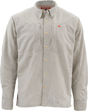 <font color=red>On Sale - Clearance</font><br>Simms Bugstopper LS Shirt - Dark Slate Plaid