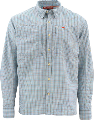 <font color=red>On Sale - Clearance</font><br>Simms Bugstopper LS Shirt - Oxford Blue Plaid