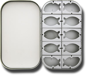 Aluminum Fly Box - 10 Compartment - Silver