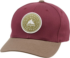 <font color=red>On Sale - Clearance</font><br>Simms Classic Baseball Cap - Malbec