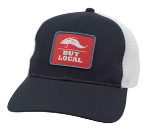 <font color=red>On Sale - Clearance</font><br>Simms Buy Local Patch Trucker - Admiral Blue