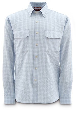 <font color=red>On Sale - Clearance</font><br>Simms BugBlocker Shirt - Smoke Blue