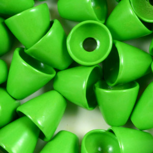 Brass Conehead Beads - 100/Bag - Fl Green