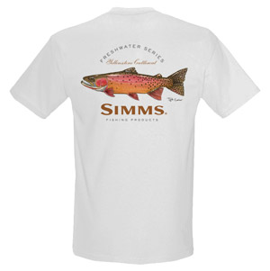 <font color=red>On Sale - Clearance</font><br>Simms Currier T-Shirt Cutthoat - SS - White