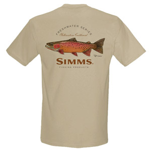 <font color=red>On Sale - Clearance</font><br>Simms Currier T-Shirt Cutthoat - SS - Lt Khaki