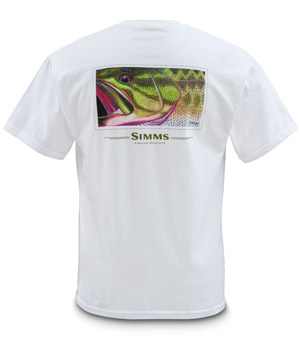 <font color=red>On Sale - Clearance</font><br>Simms DeYoung T-Shirt Bass - SS - White
