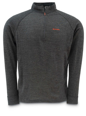 <font color=red>On Sale - Clearance</font><br>Simms DownUnder Merino Zip Top - Charcoal