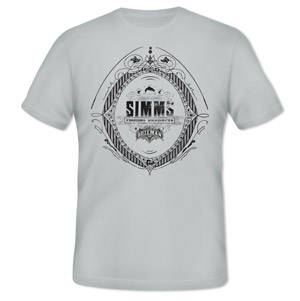 <font color=red>On Sale - Clearance</font><br>Simms Emblem T-Shirt - SS - Grey