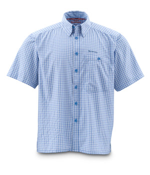 <font color=red>On Sale - Clearance</font><br>Simms Morada SS Shirt - River Plaid