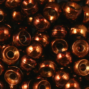 Brass Nymph Beads - 100/Bag - Metallic Brown