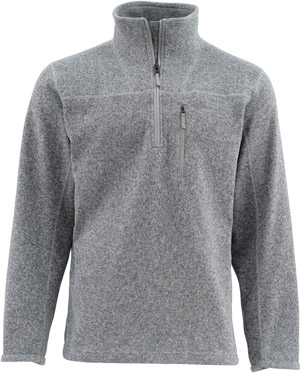 <font color=red>On Sale - Clearance</font><br>Simms Rivershed Sweater Quarter Zip - Smoke